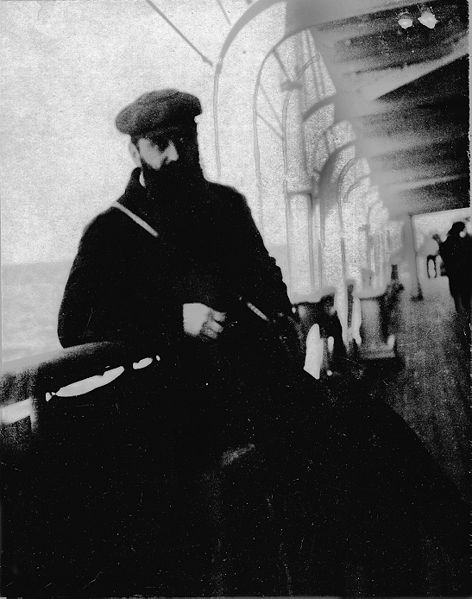 Herzl en un barco yendo a visitar Eretz Israel, 26 de octubre de 1898.