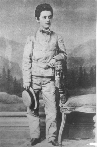 Teodor Herzl con 13 años